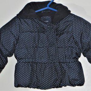 BABY GAP Size 6-12 M Blue Polka Dot Puffer Jacket